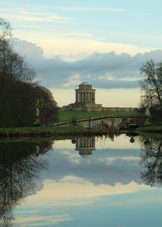 Mausoleum and New River Bridge, Castle Howard, North Yorkshire, UK