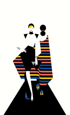 Malika Favre: Ilustraciones llenas de color y simpleza! : Malika Favre - Cover illustration for the Hamburg issue of SHOP magazine. Penguin Books, Inspiration Artistique, Fashion Clipart, Graphisches Design, Poster S, Flat Illustration, Illustration Fashion, Portrait Illustration, Art Illustrations