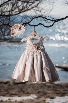Φόρεμα βάπτισης Vinte Li 2816 με ασορτί κορδέλα., annassecret,