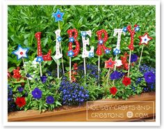 garden craft ideas..4th of July