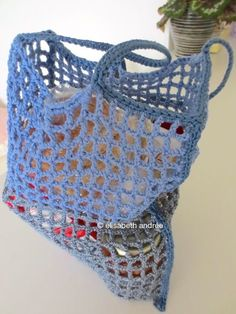 small open work market bag by elisabeth andrée| about crochet