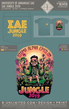 University of Arkansas Sigma Alpha Epsilon Jungle Event Shirt | Fraternity Event | Greek Event #sigmaalphaepsilon #sae #uofa #razorbacks