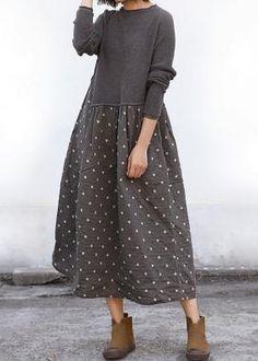 Sweater Dress Outfit, Knit Dress, Knit Fashion, Trendy Fashion, Women's Fashion, Linen Dresses, Types Of Sleeves, Midi Skirt, Ideias Fashion