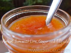 """NWEdible's list of """"zings"""" to add to homemade jams.  Apricot Jam with Lime, Ginger and Tequila?  Yes, please!"""