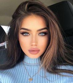Brunette Beauty, Brunette Girl, Beauty Makeup, Hair Makeup, Hair Beauty, Beautiful Girl Image, Gorgeous Women, Stunning Eyes, Woman Face