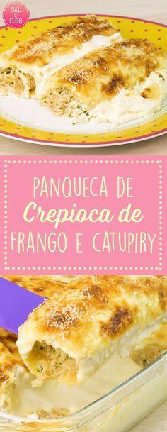 Receita maravilhosa de crepioca com frango e catupiry, além de uma molho especial delicioso!