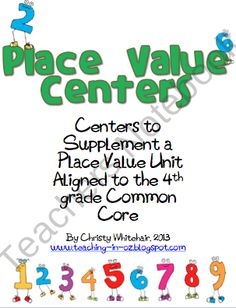 Differentiated 4th Grade Common Core Aligned Place Value Centers! product from Teaching-In-Oz on TeachersNotebook.com