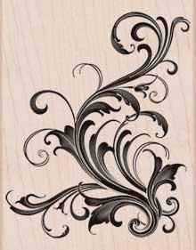 lovely little flourish on wood [this would be beautiful as corners of a clockface...]