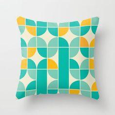 mid century modern throw pillows | Mid Century Modern Theme Colored Pattern Throw Pillow