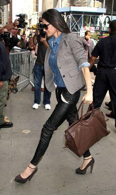 Demi Moore Fashion - wearing Heidi Merrick Brummel Vegan Leather Pants