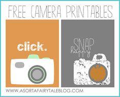 Free printable // camera