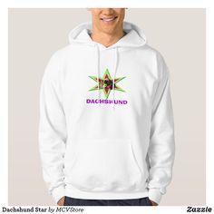 Dachshund Star - men hoodie