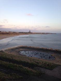 Long sands beach tynemouth. 7.20 am Saturday 22 February 2014