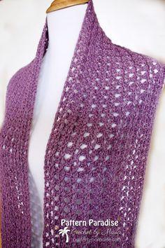 Free Crochet Pattern Eve Scarf by Pattern Paradise
