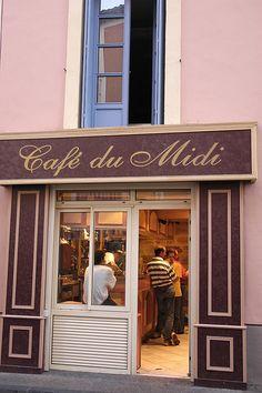 Cafe du Midi, Pezenas, Languedoc-Roussillon, France