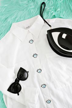 Eye Spy A Button-Down DIY | A Beautiful Mess | Bloglovin'