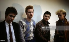 Photo of DEPECHE MODE; Group portrait - L-R Alan Wilder, Andrew Fletcher, Dave Gahan and Martin Gore