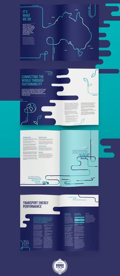 Surface to Sky - Annual Report on Behance