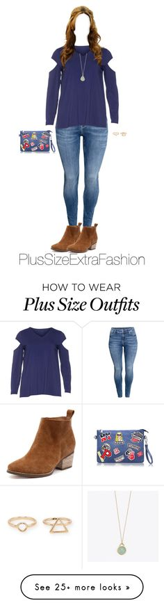 """""""Plus Size Outfit ft. Cut Out Shoulders"""" by plussizeextrafashion on Polyvore featuring H&M, Isolde Roth, MANGO, plussize, spring2016 and plussizeextrafashion"""