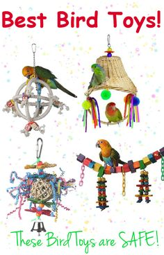 Here is a Huge LIST of the Best Bird Toys, made in the USA.  Discount Prices!