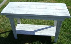 similar barnwood hall table white washed old wood x 2 . Fencing Material, Off White Paints, Old Barn Wood, Old Fences, Primitive, Master Bedroom, House, Inspiration, Furniture