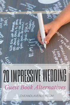 20 Wedding Guest Book Alternatives (#10 is our new favorite) via @loveandlav