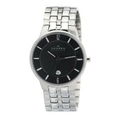 Skagen Men's 331XLSXM1 Stainless Steel Watch Watch Skagen. $85.00. Durable mineral crystal. Quartz movement. Grey dial. Case diameter: 39mm. Water-resistant to 30m (99 ft). Save 45%!