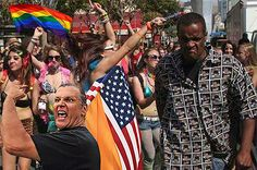 Conversation Between Two Homophobes: One White vs. One Black. Lesbian, Gay, Conversation, Beauty, Black, Fashion, Moda, Black People, La Mode