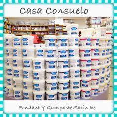 Fondant Satin Ice, en todos los colores, rico sabor a vainilla. Presentacion 2, 5, 10 y 20 libras Pasta de goma Satin Ice 2 lbs y 5 lbs