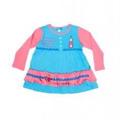 Niedliches, farbenfrohes Langarm-Kleid des spanischen Insider-Labels DOLÇA, mit gerüschtem Rocksaum und tollen Printmotiven. Am Ausschnitt befinden sich drei Zierknöpfe - ein echter Eyecatcher!