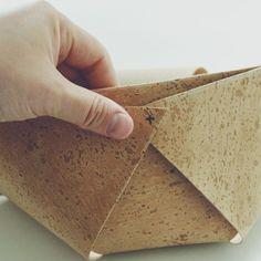 DIY: Utensilo aus Korkstoff Diy Box, Mai, Jute, Basket, Simple, Utah, Burlap
