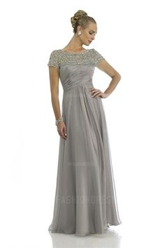 A-Line Princess Jewel Floor-length Chiffon Mother of the Bride Dress Mother 48aae6beb6de