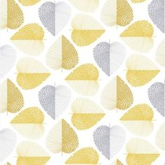 Habitat Stitch Leaf Printed Wallpaper - Mustard Yellow at Homebase -- Be inspired and make your house a home. Buy now.