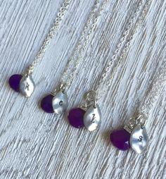 Bridesmaid sets of 4,5,6, bridesmaid gift, purple wedding ideas, purple necklace https://www.etsy.com/listing/281586304/bridesmaid-necklace-set-of-4-5-6