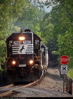 RailPictures.Net Photo: NS 7083 Norfolk Southern EMD GP50 at Canton, North Carolina by boohooblues