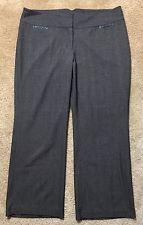 Lane Bryant 20 Reg Pants Brown Faux Leather Black