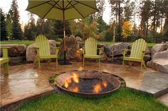 Recycled Fire Pit  Fire Pit  Copper Creek Landscaping  Mead, WA
