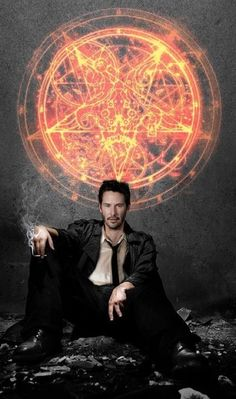 Keanu Reeves as John Constantine ok not the best actor but yummy to look at!