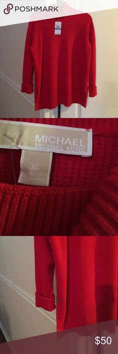 Michael Kors Ladies Red Sweater NWT MK Red Sweater Michael Kors Sweaters Cowl & Turtlenecks