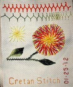 Cretan stitch nice sampler
