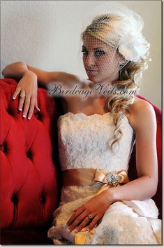 Thinking a birdcage veil think it looks amazing
