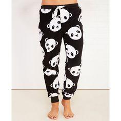 Mjc International Panda Plush Jogger Pajama Pants ($18) ❤ liked on Polyvore featuring intimates, sleepwear, pajamas, pj pants, panda pajamas, fuzzy pajamas, wet seal and panda bear pajamas