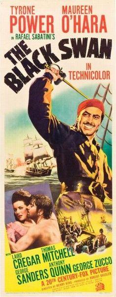 El cisne negro -1942 Tras ser indultado y posteriormente nombrado gobernador de Jamaica en 1674, el famoso pirata sir Henry Morgan, anteriormente un temible bucanero de los mares del sur, pide ahora ayuda a sus antiguos compañeros para su nueva misión: eliminar la piratería del mar Caribe.