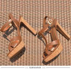 Sandália Cortiça #sandália #salto #cortiça #calçados #looknowlook