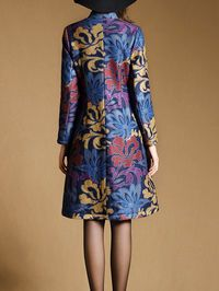 Jacquard Buttoned Coat