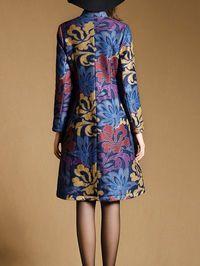 Jacquard Buttoned Coat