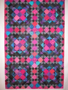 Julie's Quilts & Costumes: Easy Street - in pink, turquoise, and black
