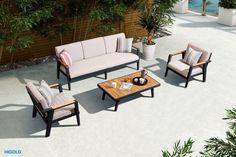 emoti-ekskluzywny-zestaw-wypoczynkowy-meble-ogrodowe-z-aluminium Best Outdoor Furniture, Sofa, Pergola, Outdoor Decor, Home Decor, Furniture, Settee, Decoration Home, Room Decor
