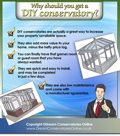 Building a DIY- conservatory as an extension to your home Diy Conservatory, Conservatories, Game Room, Kit, Building, Living Room Playroom, Game Rooms, Buildings, Gaming Rooms