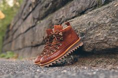Fracap M130 Brogue Ripple Sole Hiking Boot - Brown | Kith NYC